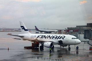 Airbus A319 OH-LVG авиакомпании Finnair в аэропорту Москва Шереметьево