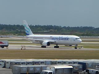 Boeing-767-300 Euro Atlantic airlines at the airport of Havana