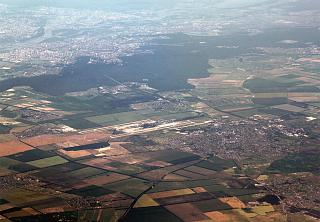 The Boryspil airport and Kyiv city away