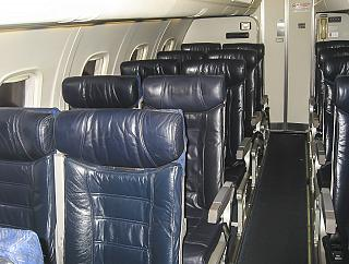 The passenger seats in the Embraer ERJ140