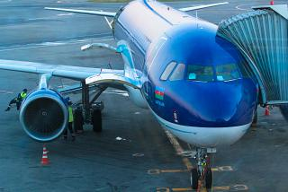 Airbus A320 Azerbaijan airlines at Domodedovo airport