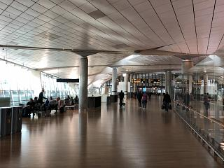 General view of area C in the Oslo airport Gardermoen