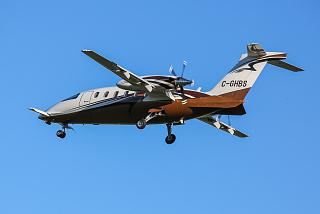 Aircraft Piaggio-180 Avanti with the number of C-GHBS