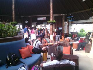 The waiting room before landing at Samui airport