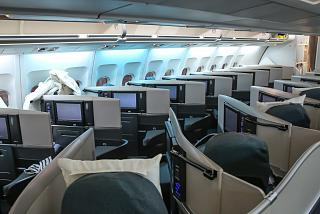 The business-class Airbus A340-300 Cathay Pacific