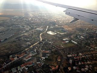 Over the city of Poprad in Slovakia