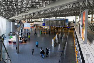 General view of the passenger terminal 1 of Frankfurt airport