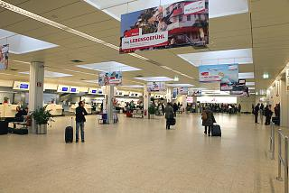 The check-in area at the airport of Salzburg