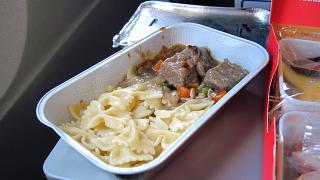Питание на рейсе авакомпании Уральские авиалинии  Москва-Барселона