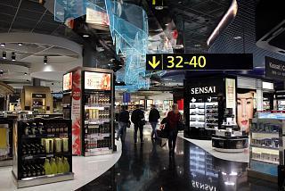 Duty Free shop in terminal 2 at Helsinki Vantaa airport