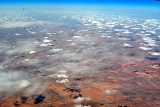 Cirrus clouds over Algeria