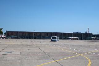 The view from the apron at the passenger terminal of the Burgas airport