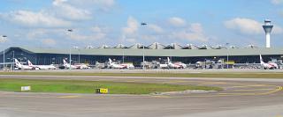 The main passenger airport terminal in Kuala Lumpur