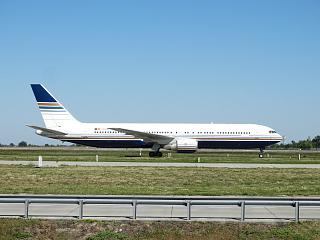 Boeing 767-300 EC-LZO airlines Privilege Style at the Boryspil airport