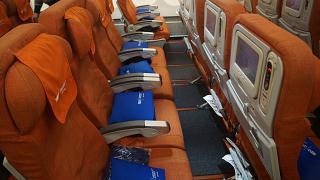 Кресла экономического класса в самолете Airbus A330-200 Аэрофлота