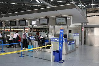 Reception Ryanair in terminal 2 at Cologne/Bonn airport