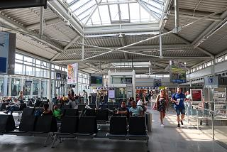 In the clean departure area of Leipzig Halle Airport