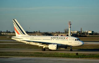 Airbus A318 F-GUGM Air France at the airport of Bologna