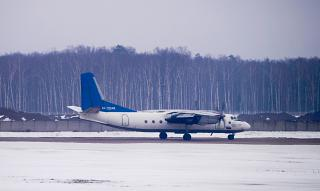 "Antonov an-24RV RA-13344 airline ""Pskovavia"" at Domodedovo airport"