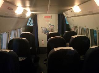 "The cabin of the plane L-410 of airline ""Komiaviatrans"""