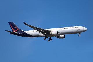 The Airbus A330-300 Brussels airlines