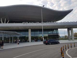 Вход в новый терминал аэропорта Загреб Франьо Туджман