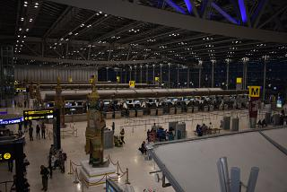 The reception area at the airport Bangkok Suvarnabhumi