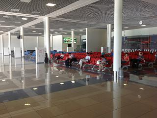 The waiting room in clean area of Vladivostok airport Knevichi