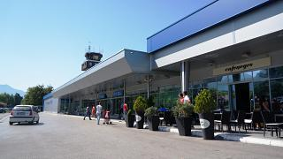 The terminal of the airport Tivat