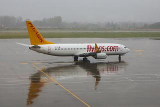 B737-800 Pegasus airlines at Bucharest airport