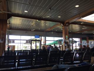 The departure lounge for domestic flights in airport Papeete FAA