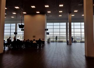 The waiting room at the airport in Zhukovsky