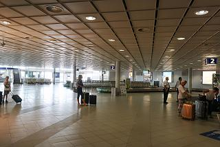 Baggage claim area at the airport of Leipzig-Halle