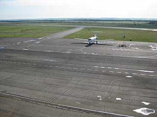 Bugulma airport - view on the airfield