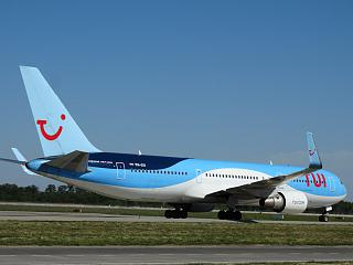 Boeing-767-300 PH-OYI airlines TUI Airlines Netherlands at the airport Kiev Borispol