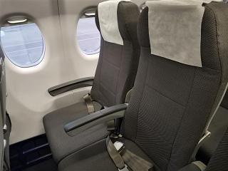 Passenger seats on the Superjet-100 of the airline Azimuth