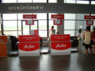 Reception of airline AirAsia Krabi airport