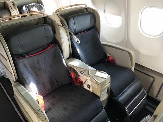Расслабленные кресла Lie-Flat Bed в бизнес-классе Airbus A330-200 Turkish Airlines