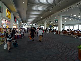 In a clean area, and Naha airport on Okinawa