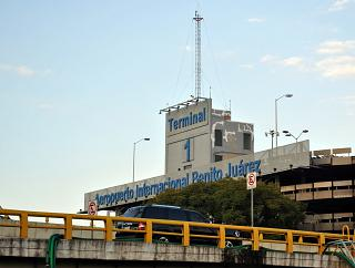 Multi-level Parking at the terminal T1 of the airport of Mexico city Benito Juarez