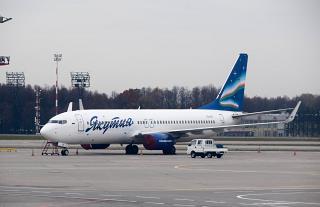 """Boeing-737-800 of airline """"Yakutia"""" in Vnukovo airport"""
