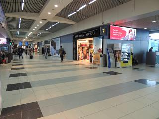 In pure international departures area of Domodedovo airport