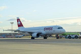 Airbus A320 of SWISS International Air Lines at Moscow Domodedovo airport