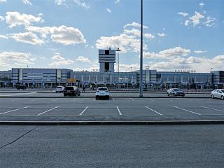 Square in front of the terminal of the Ekaterinburg airport Koltsovo