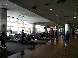 The waiting room at the departure gate at the airport in Buenos Aires Jorge Newbery