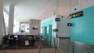 The gate in the low-cost terminal KLIA2 airport in Kuala Lumpur