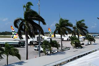 The platform of the airport George town on Cayman Islands