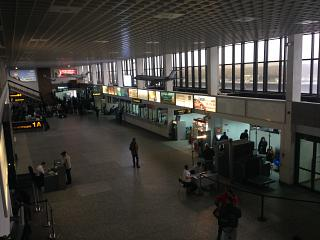 In the terminal building of the airport Tyumen Roschino