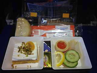 A meal on the Aeroflot flight Moscow-Sochi