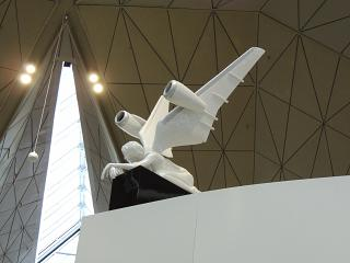 Angel sculpture in the new terminal of airport Saint Petersburg Pulkovo